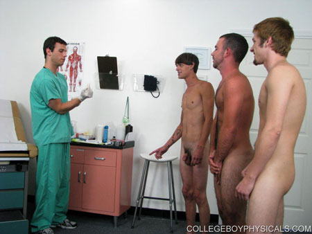 Gay Doctor : college Boy Physicals – Group semen Donation!